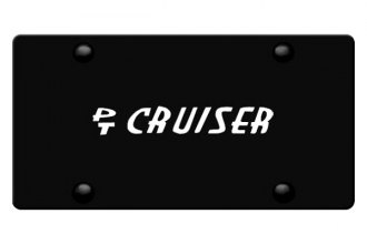 DWD® - 3D PT Cruiser Logo on Black Stainless Steel License Plate