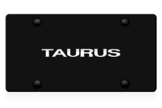 DWD® - 3D Taurus Logo on Black Stainless Steel License Plate