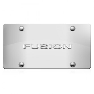 DWD® - 3D Fusion Logo on Chrome Stainless Steel License Plate