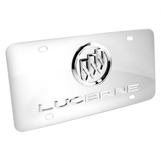 iPickimage® - 3D Lucerne with Buick Logo on Chrome Stainless Steel License Plate