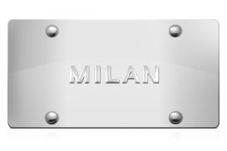 DWD® - 3D Milan Logo on Chrome Stainless Steel License Plate