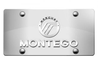 DWD® - 3D Montego with Mercury Logo on Chrome Stainless Steel License Plate