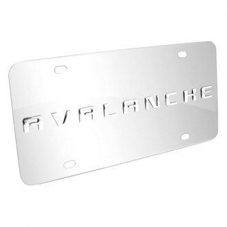 iPickimage® - 3D Avalanche Logo on Chrome Stainless Steel License Plate