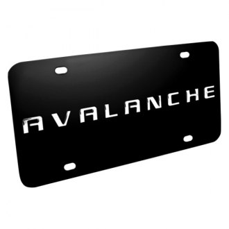 DWD® - 3D Avalanche Logo on Black Stainless Steel License Plate