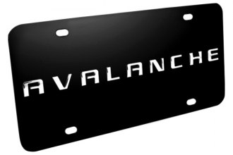 DWD® 312770 - 3D Avalanche Logo on Black Stainless Steel License Plate