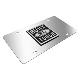 iPickimage® - 3D Built Ford Tough Logo on Chrome Stainless Steel License Plate