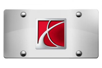 DWD® - 3D Saturn Logo on Chrome Stainless Steel License Plate