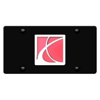 DWD® - 3D Saturn Logo on Black Stainless Steel License Plate