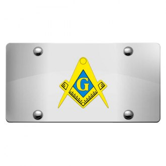 DWD® - 3D Mason Logo on Chrome Stainless Steel License Plate