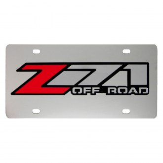 iPickimage® - 3D Z71 Offroad Logo on Chrome Stainless Steel License Plate