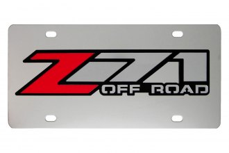 DWD® - 3D Z71 Offroad Logo on Chrome Stainless Steel License Plate