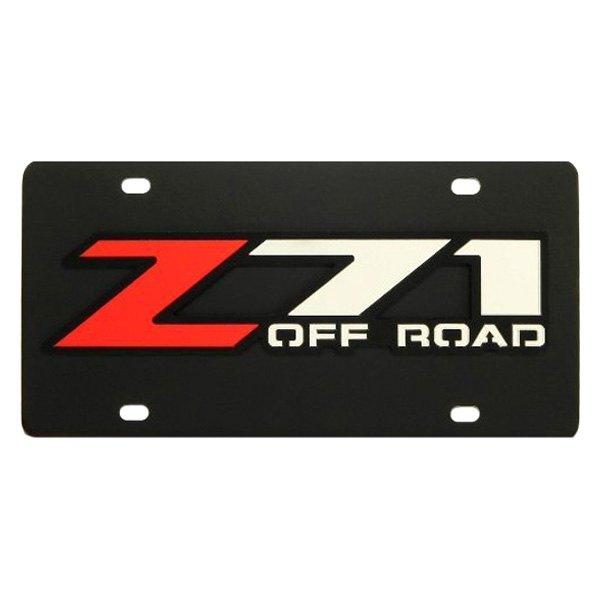 DWD® - 3D Z71 Offroad Logo on Black Stainless Steel License Plate