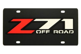 DWD® 313258 - 3D Z71 Offroad Logo on Black Stainless Steel License Plate
