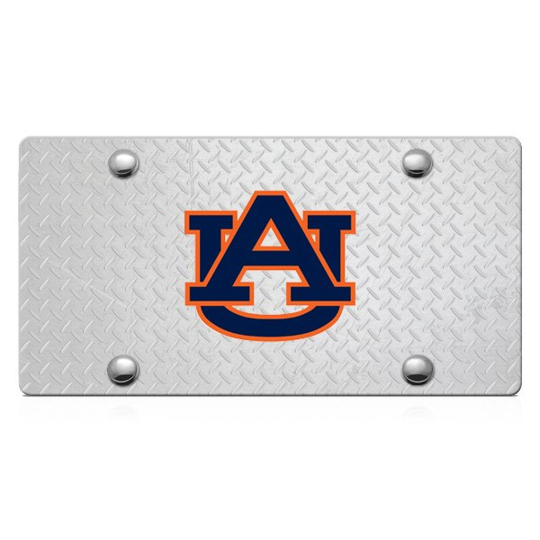 DWD® - 3D Auburn AU Logo on D-Plate Stainless Steel License Plate
