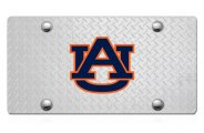 DWD� - 3D Auburn AU Logo on D-Plate Stainless Steel License Plate