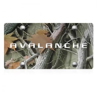 DWD® - 3D Avalanche Logo on Camo Stainless Steel License Plate