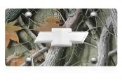 DWD® - 3D Chrome Bowtie on Camo Stainless Steel License Plate