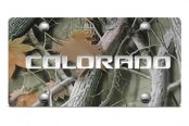 DWD® - 3D Colorado Logo on Camo Stainless Steel License Plate