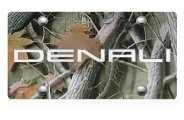 DWD® - 3D Denali Logo on Camo Stainless Steel License Plate