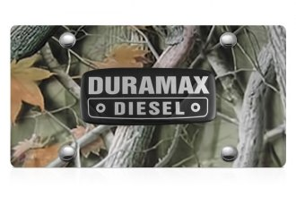 DWD® - 3D Duramax Logo on Camo Stainless Steel License Plate