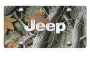 DWD� - 3D Jeep Logo on Camo Stainless Steel License Plate