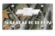 DWD® - 3D Suburban Logo on Camo Stainless Steel License Plate with Chrome Bowtie