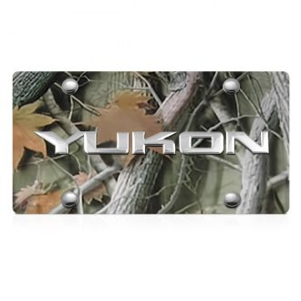 DWD® - 3D Yukon Logo on Camo Stainless Steel License Plate