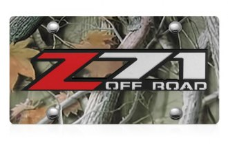 DWD® - 3D Z71 Offroad Logo on Camo Stainless Steel License Plate
