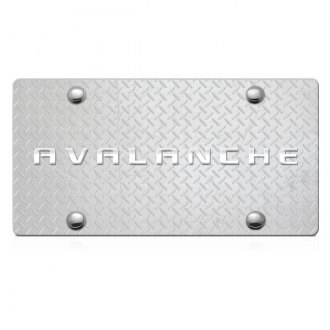 DWD® - 3D Avalanche Logo on Diamond Stainless Steel License Plate