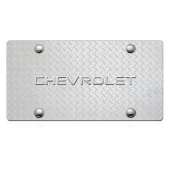 iPickimage® - 3D Chevy Logo on Diamond Stainless Steel License Plate