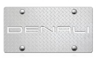 DWD® - 3D Denali Logo on Diamond Stainless Steel License Plate