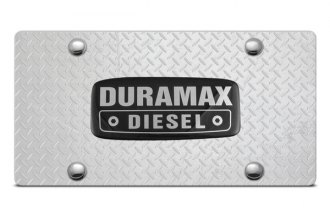 DWD® - 3D Duramax Logo on Diamond Stainless Steel License Plate