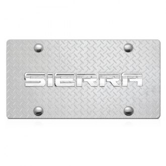 DWD® - 3D Sierra Logo on Diamond Stainless Steel License Plate
