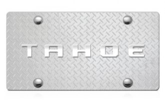 DWD® - 3D Tahoe Logo on Diamond Stainless Steel License Plate