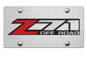DWD® - 3D Z71 Offroad Logo on Diamond Stainless Steel License Plate