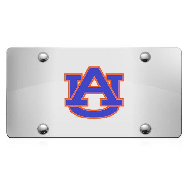DWD® - 3D Auburn AU Logo on Chrome Stainless Steel License Plate