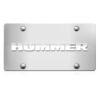iPickimage® - 3D Hummer Logo on Chrome Stainless Steel License Plate