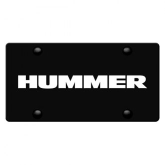 iPickimage® - 3D Hummer Logo on Black Stainless Steel License Plate