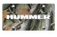 DWD® - 3D Hummer Logo on Camo Stainless Steel License Plate