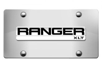 DWD® - 3D Ranger Logo on Chrome Stainless Steel License Plate