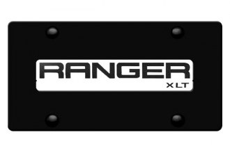 DWD® - 3D Ranger Logo on Black Stainless Steel License Plate