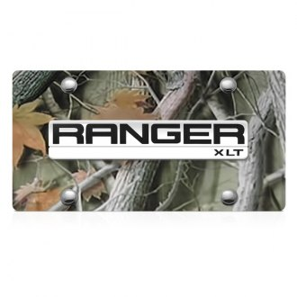 DWD® - 3D Ranger Logo on Camo Stainless Steel License Plate