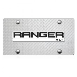 DWD® - 3D Ranger Logo on Diamond Stainless Steel License Plate