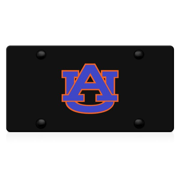 DWD® - 3D Auburn AU Logo on Black Stainless Steel License Plate