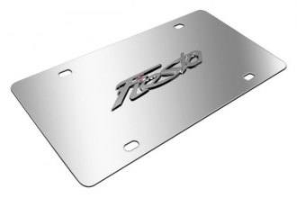 DWD® - 3D Fiesta Logo on Chrome Stainless Steel License Plate