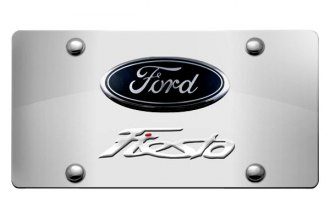 DWD® - 3D Fiesta Double Logo on Chrome Stainless Steel License Plate