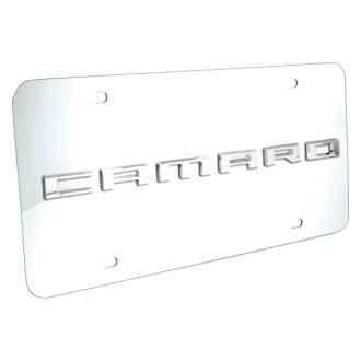DWD® - 3D Camaro Logo on Chrome Stainless Steel License Plate