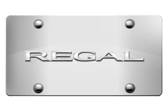 DWD® - 3D Regal Logo on Chrome Stainless Steel License Plate