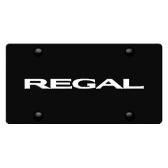 iPickimage® - 3D Regal Logo on Black Stainless Steel License Plate
