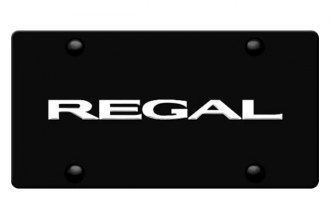 DWD® 316105 - 3D Regal Logo on Black Stainless Steel License Plate